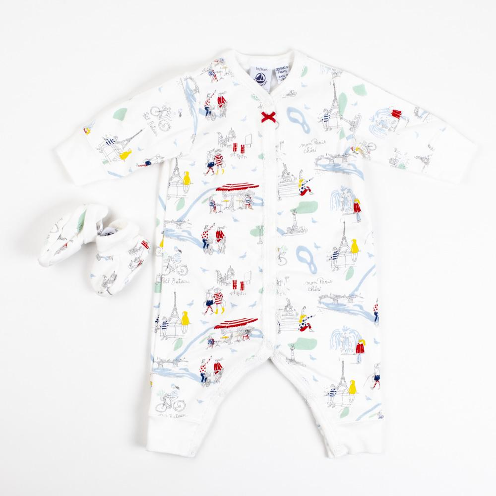 Baby Girl Paris Coverall