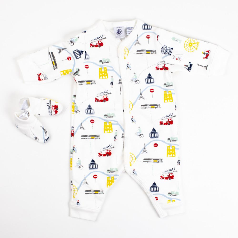 Baby Boy Paris Coverall