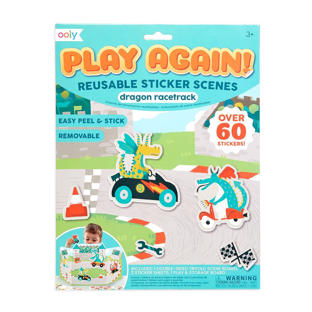Dragon Racetrack Reusable Sticker Scenes