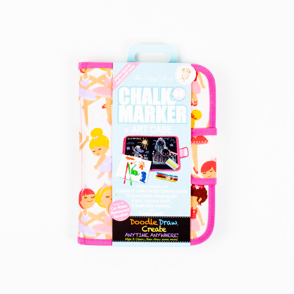 Ballerina Chalk and Marker Art Case