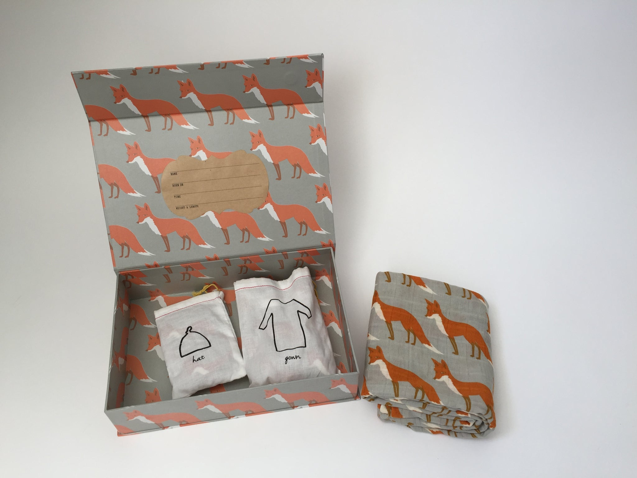 "Milkbarn Organic Cotton ""Fox"" Keepsake Set"
