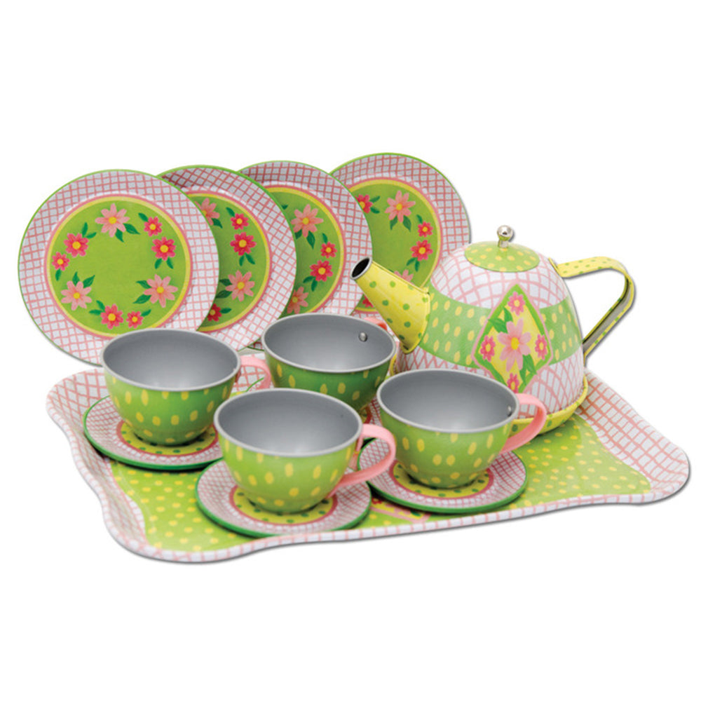 Spring Tin Tea Set