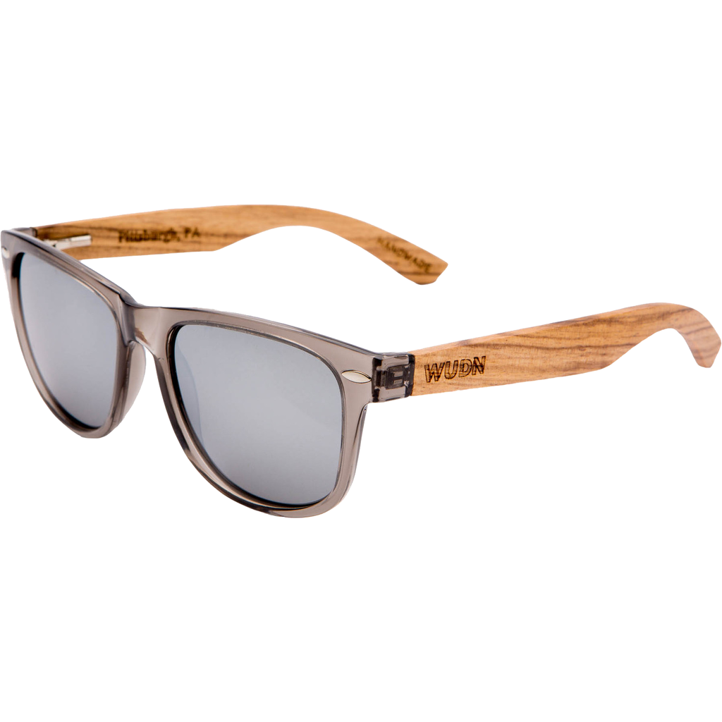 Handmade Zebra Wood Hybrid Sunglasses - Gray Polarized Lenses