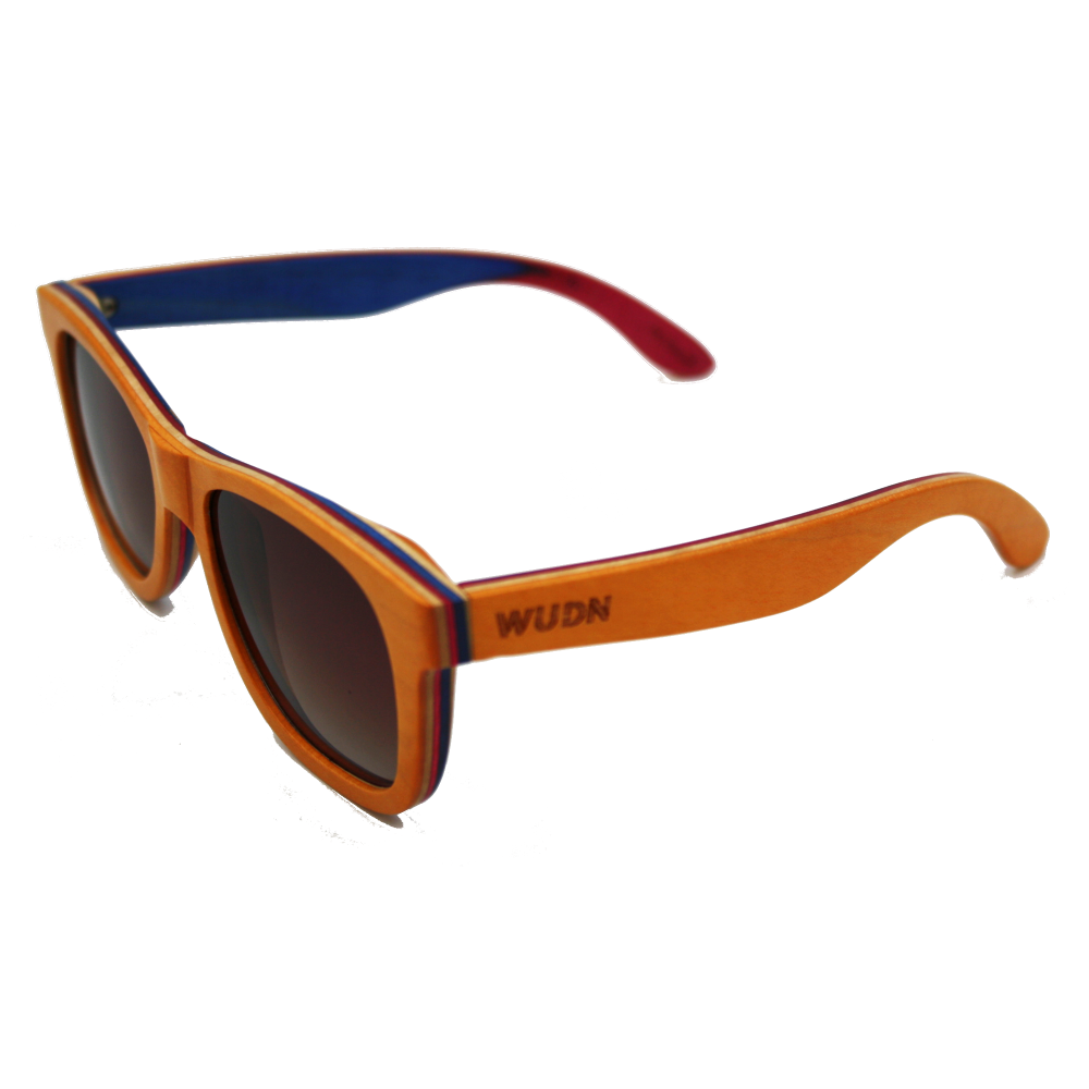Handmade Orange Creme Wood Sunglasses - Polarized Lenses