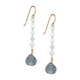 Appealing Charlotte Earrings in Blue Quartz