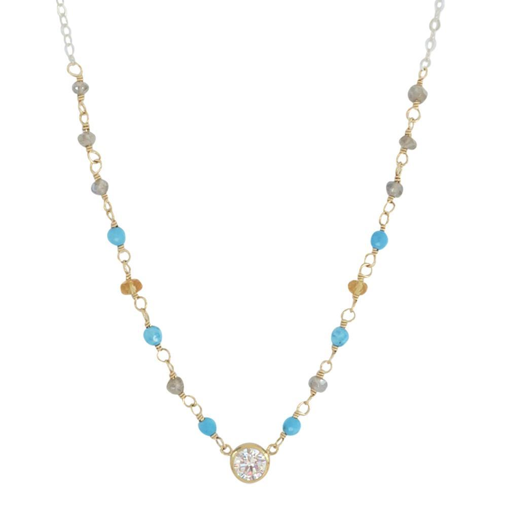 Sophia Necklace in Turquoise