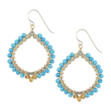 Madison Earrings in Turquoise