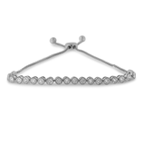 Sterling Silver 1/4 ct TDW Diamond Tennis Bolo Bracelet(H-I,I2-I3)