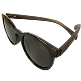 Hot Black Framed, Ebony Wood Beach Days - Smoked Polarized Lenses