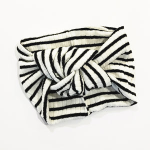 Black & White Stripes Classic Turban