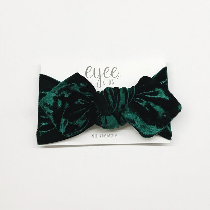 Emerald Crushed Velvet Top Knot