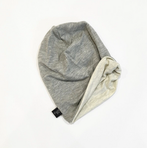Grey and Ivory Beanie
