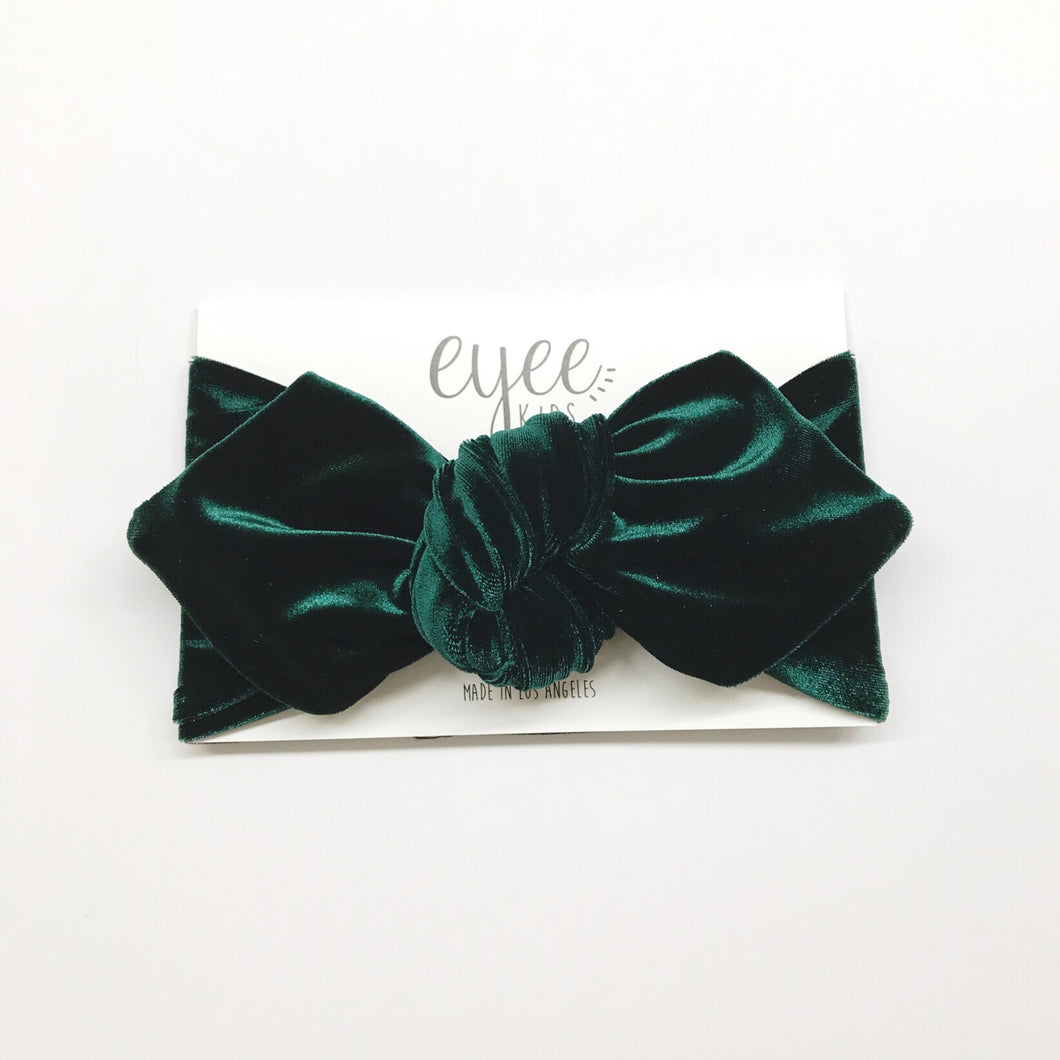 Emerald Velvet Top Knot