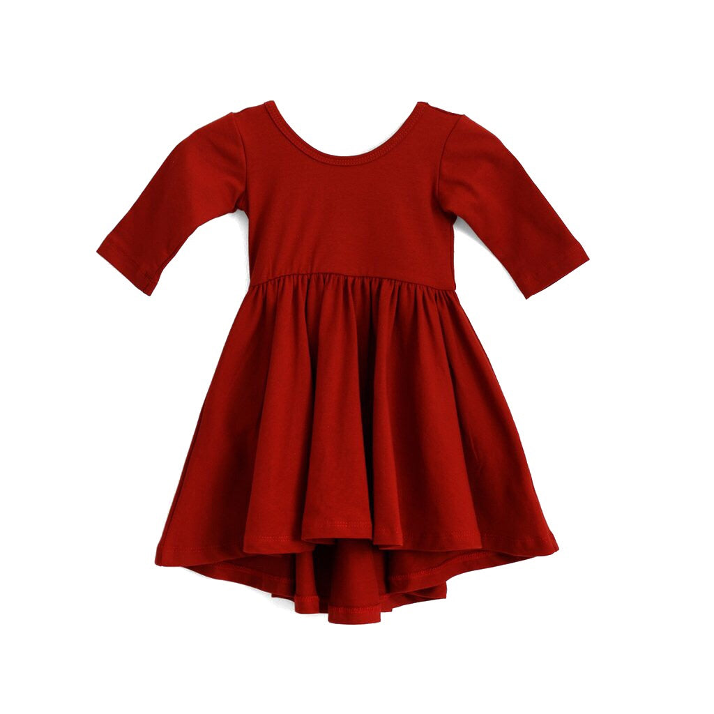 Cranberry Red High-Low Dress