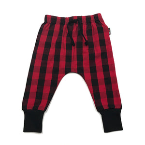 Handmade Red Buffalo Plaid Harems