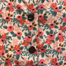 Rosa Floral Peach Peter Pan Collar Blouse