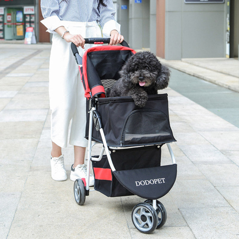 Stroller for Dog Pet Stroller for Cat Dog Stroller Dog Carrier Honden Buggy Puppy Cat Carrier Breathable Outside Travel Supplies