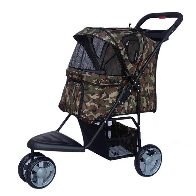 Stroller for Dog Car Carrier Dog Stroller for Large Dogs Pet Carrier Portable Puppy Cat Pet Stroller with Wheels Honden Buggy