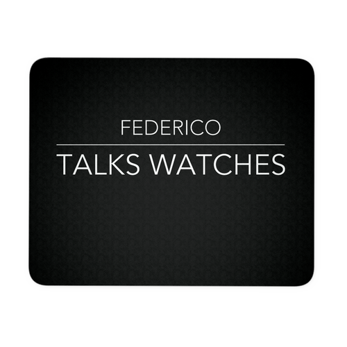 Federico Talks Watches Mousepad - Black