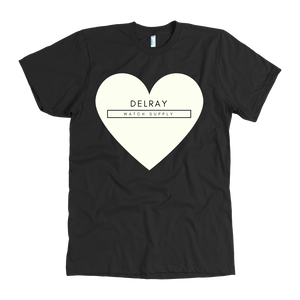Delray Watch Supply Heart - Black and White