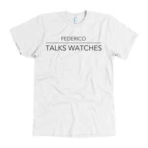 Federico Talks Watches T Shirt - Black Logo