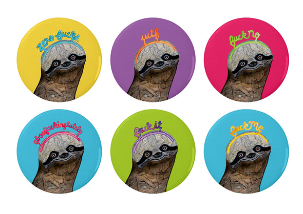 Coaster Set: Saucy Sloths (6pack)