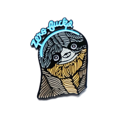 Button: Enamel Pin Sloth Zero Fucks