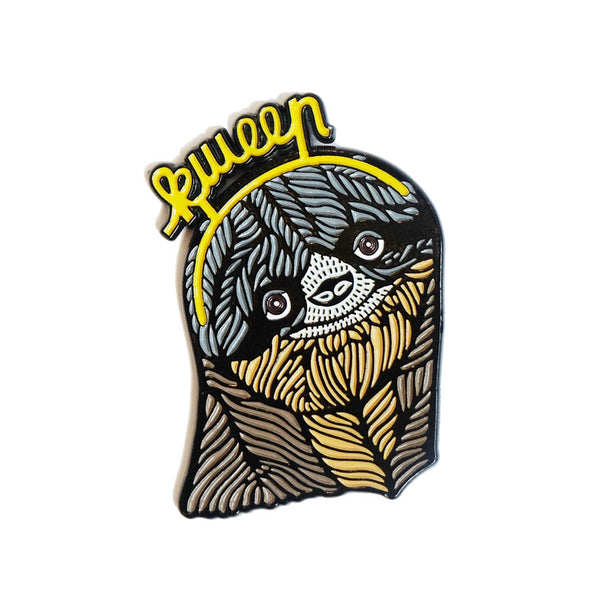 Button: Enamel Pin Sloth Kween