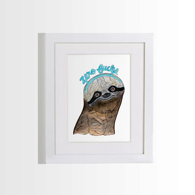 Prints & Postcards: Sloth Norm Zero Fucks