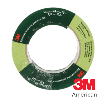 3M Industrial Painter's Tape 205 - Green 24mm/48mm x 55m (2 Size Available)