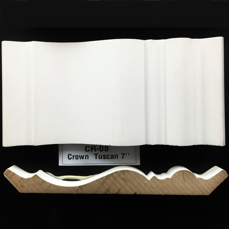 Crown Molding: CR-08 Crown Tuscan 7""