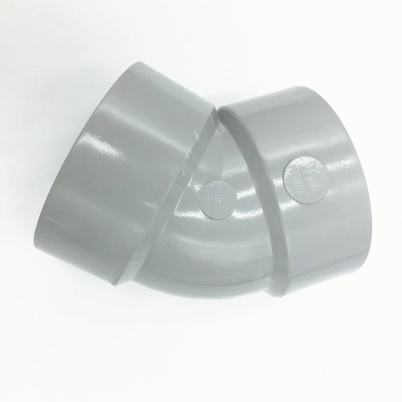 PVC Pipe Fitting 45 Degree Elbow  (4 Size Available)