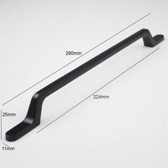 H-65718 BK Black Finished Handle (5 Size Available)