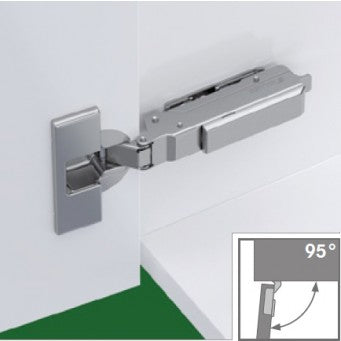 TIOMOS 95° Soft Close overlay Hinge - door up to 28mm (F028138568)