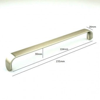 H-208 BSS Pull - Satin Nickel Finished Handle  (5 Size Available)
