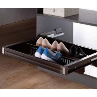 JSH-628/ 632 Adjustable pull out shoe rack with soft close (600mm-700mm/ 900mm-1000mm)