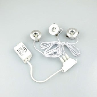 LED Mini Spot light 3-pc Set (Warm Light) - LD-GLCL2W-WW-3X