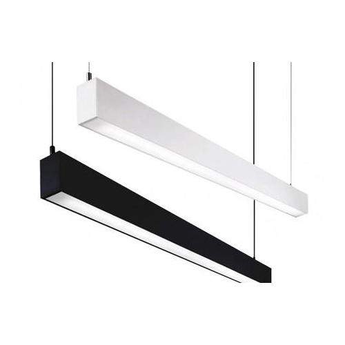 LED Linear High Bay Light 4Ft 40W  4000K 4000 Lumens 120-240VAC, DLC & cUL Listed Black/Silver Shell