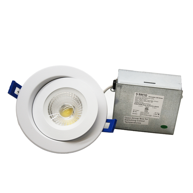 RENO Lighting: LED 4″ Gimbal 9W- 3000K/4000K/5000K Multi CCT