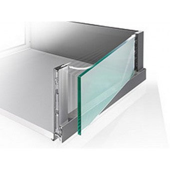 Nova Pro Scala Crystal Plus Drawer H186mm 500mm Ice/ Silver Finish