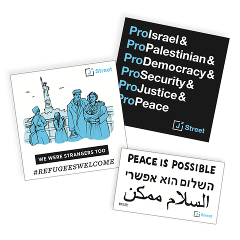 J Street Sticker 3-Pack