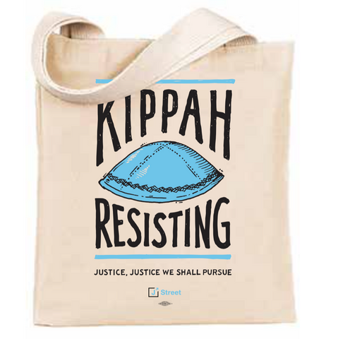 Kippah (Keep on) Resisting Tote Bag
