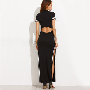 Cut Out Striped Dress, Dresses - Mood:Fabulous | Find your style! Shop online women's clothing, accessories, shoes & more. Free shipping on orders over 50€.