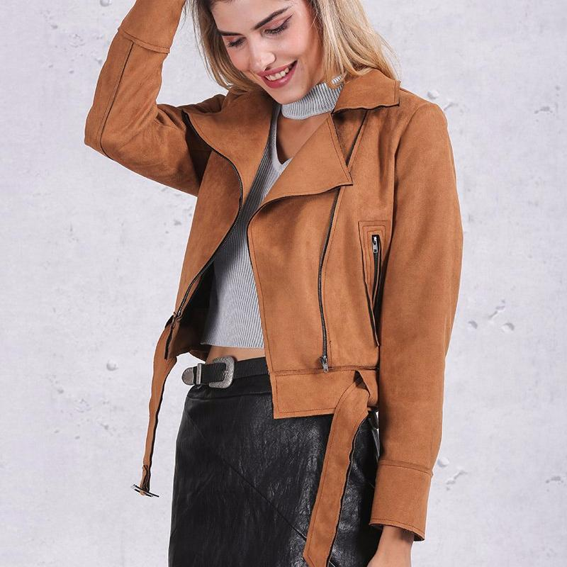 Suede Belted Jacket, Jackets - Mood:Fabulous | Find your style! Shop online women's clothing, accessories, shoes & more. Free shipping on orders over 50€.
