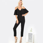 Ruffle Cold Shoulder Jumpsuit, Jumpsuits - Mood:Fabulous | Find your style! Shop online women's clothing, accessories, shoes & more. Free shipping on orders over 50€.