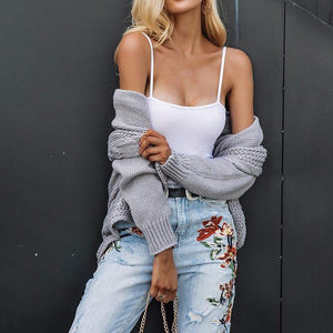 Turn-Down Collar Knitted Cardigan, Jackets - Mood:Fabulous | Find your style! Shop online women's clothing, accessories, shoes & more. Free shipping on orders over 50€.