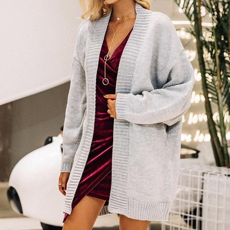 Batwing Sleeve Knit Cardigan, Jackets - Mood:Fabulous | Find your style! Shop online women's clothing, accessories, shoes & more. Free shipping on orders over 50€.