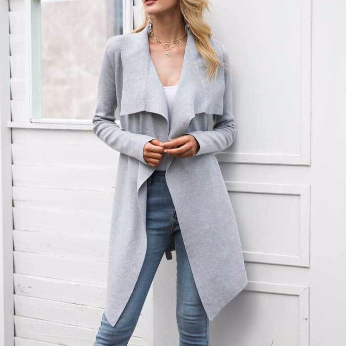 Turn-Down Collar & Sash Cardigan, Jackets - Mood:Fabulous | Find your style! Shop online women's clothing, accessories, shoes & more. Free shipping on orders over 50€.