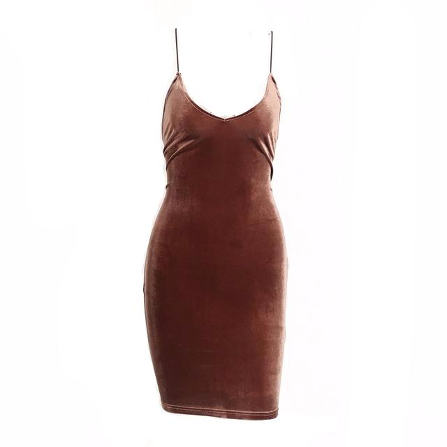 Lace-Up Back Velvet Dress, Dresses - Mood:Fabulous | Find your style! Shop online women's clothing, accessories, shoes & more. Free shipping on orders over 50€.