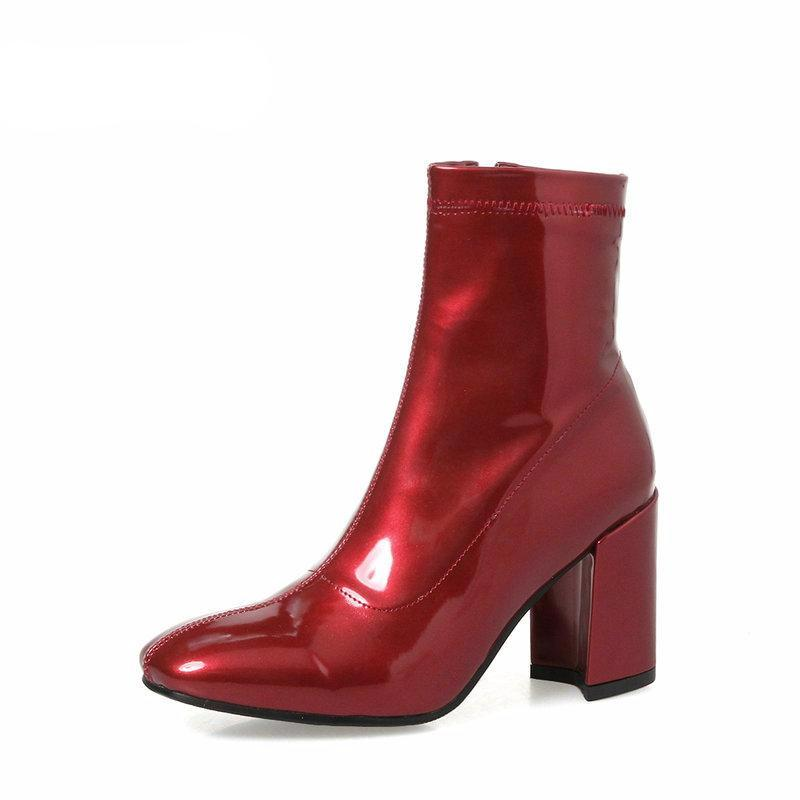 Patent Heeled Ankle Boots, Shoes - Mood:Fabulous | Find your style! Shop online women's clothing, accessories, shoes & more. Free shipping on orders over 50€.